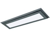 "Satco Products, Inc. 62-1185 22W/LED/7""X25""/FLUSH/3K/BRZ Satco Blink Plus 22 Watt 7""x25"" Surface Mount Fixture For Ceiling and Closets, 3000K, Bronze Finish"
