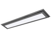 "Satco Products, Inc. 62-1176 30W/LED/7""X38""/FLUSH/3K/GM Satco Blink Plus 22 Watt 7""x38"" Surface Mount Fixture For Ceiling and Closets, 3000K, Gray Finish"