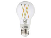 Bulbrite 290110 SL5WA19/W/CL/1P WiFi White Color Adjusted 5.5W Clear Filament A19 LED Bulb, No Hub Needed, Outdoor Rated