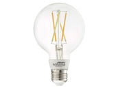 Bulbrite 293120 SL5WG25/W/CL/1P Solana WiFi White Color Adjusted 5.5W Clear Filament G25 LED Bulb, No Hub Needed, Outdoor Rated