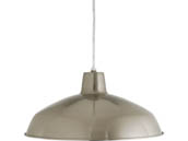 Progress Lighting P5094-0930K9 17 Watt Metal Shade Collection One Light LED Pendant, Nickel Finish, 3000K