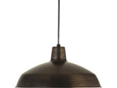 Progress Lighting P5094-7430K9 17 Watt Metal Shade Collection One Light LED Pendant, Bronze Finish, 3000K
