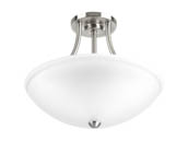 Progress Lighting P350088-009-30 Gather Semi-Flush LED Fixture, Nickel Finish, 3000K