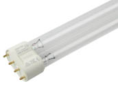 Philips Lighting 151271 TUV PL-L 24W/4P (Germicidal) Philips PL-L 24W TUV 4 Pin 2G11 Germicidal Long Single Twin Tube CFL Bulb