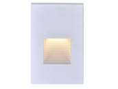 Satco Products, Inc. 65-405 Satco 3 Watt Vertical LED Step Light, White Finish, 3000K, 120 Volt