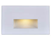 Satco Products, Inc. 65-407 Satco 5 Watt Horizontal LED Step Light, White Finish, 3000K, 120 Volt
