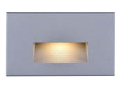 Satco Products, Inc. 65-411 Satco 5 Watt Horizontal LED Step Light, Gray Finish, 3000K, 120 Volt