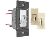 Pass & Seymour TSD4FBL3PTC Pass & Seymour/Legrand TSD4FBL3PTC 0-10V Fluorescent/LED Slide Dimmer and Toggle On/Off Single Pole/3-Way Switch, Tri-Color