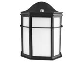 MaxLite 101444 ML4LS14SOLBPC Maxlite 13.5 Watt Traditional Style Outdoor Integrated LED Lantern Fixture With Photocell