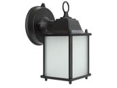 MaxLite 101309 ML4LE109SPLBK2 Maxlite Ranch Style Outdoor Lantern Fixture With Photocell, 9 Watt A19 LED Bulb Included