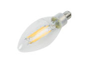 MaxLite 103410 EF4B10D930/JA8 Maxlite Dimmable 4W 3000K 90 CRI Decorative Clear Filament LED Bulb, Enclosed Fixture Rated, JA8 Compliant