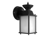 MaxLite 14098826 ML4LE171RLBK27MSC-V3 Maxlite Ranch Style Outdoor Lantern Fixture With Motion Sensor and Photocell, 15 Watt, 90 CRI A21 LED Bulb Included, JA8 Compliant