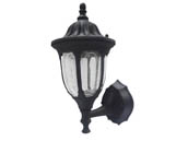 MaxLite 97868 ML4LS10MCLBK827 Maxlite 10 Watt Coach Style Outdoor Integrated LED Lantern Fixture With Photocell
