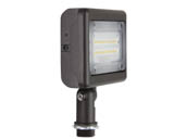 "MaxLite 104184 MSF15UW-30BKT Maxlite 70 Watt HID Equivalent, 15 Watt 3000K Slim LED Flood Light Fixture With 1/2"" Threaded Knuckle"