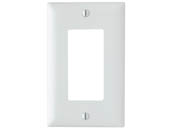 Pass & Seymour TP26W Legrand/Trademaster Decorator Opening Single Gang Wallplate, White