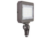 "MaxLite 104189 MSF29UW-40BKT Maxlite 100 Watt HID Equivalent, 29 Watt 4000K Slim LED Flood Light Fixture With 1/2"" Threaded Knuckle"