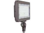 "MaxLite 104192 MSF50UW-40BKT Maxlite 150 Watt HID Equivalent, 50 Watt 4000K Slim LED Flood Light Fixture With 1/2"" Threaded Knuckle"