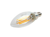 Bulbrite 776756 LED4B11/27K/FIL/4/JA8 Dimmable 4W 2700K 90 CRI Decorative Filament LED Bulb, Enclosed Rated, JA8 Compliant