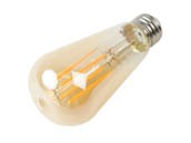 Halco Lighting 85146 ST19AMB8ANT/822/LED2 Halco Dimmable 8W 2200K Vintage ST19 Filament LED Bulb