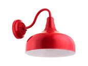 "Sunlite 46069-SU FIX/GN/E26/RED 12"" Red Gooseneck Barn Fixture, Uses Up To a 23 Watt LED Bulb, Not Included"
