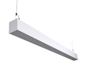 "Euri Lighting EUD4-50W103sw Dimmable 50W 48"" Color Adjustable (3000K/4000K/5000K) Suspended Linear LED Fixture with Up & Down Light"