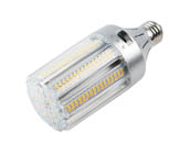 Light Efficient Design LED-8039E345-A 100 Watt Equivalent, 18 Watt Color Adjustable (3000K/4000K/5000K) LED Corn Bulb, Ballast Bypass