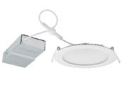 "Lithonia Lighting 26117R WF6E LED 30K 90CRI MW CP6 M2 Lithonia Wafer 6"" Dimmable 11W, 120V LED Downlight, 3000K, White, No Recessed Can or J-Box Needed"
