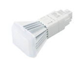 MaxLite 104734 9PLG24QVCS Maxlite 9W Dimmable 4 Pin Vertical Color Selectable (3000K/3500K/4000K) G24q LED Bulb, Ballast Compatible