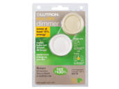 Lutron Electronics D-603PGH-DK Lutron Diva 600W, 120V Incandescent/Halogen 3-Way Rotary Dimmer, White & Ivory