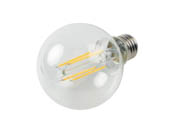 Bulbrite 776890 LED8G25/30K/FIL/3 Dimmable 8.5W 3000K 90 CRI G25 Filament LED Bulb, Enclosed and Wet Rated