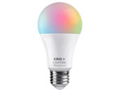 Cree Lighting CMA19-60W-AL-9ACK Cree Tunable White & Color Changing Bluetooth & WiFi 9 Watt 90 CRI A19 LED Bulb, No Hub Needed, Title 20 Compliant