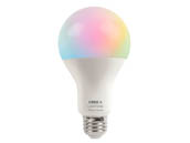 Cree Lighting CMA21-100W-AL-9ACK Cree Tunable White & Color Changing Bluetooth & WiFi 15 Watt 90 CRI A19 LED Bulb, No Hub Needed, Title 20 Compliant