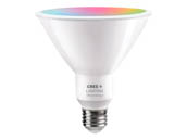 Cree Lighting CMPAR38-120W-AL-9ACK Cree Tunable White & Color Changing Bluetooth & WiFi 14 Watt 90 CRI PAR38 LED Bulb, No Hub Needed, Title 20 Compliant, Outdoor Rated