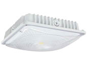 NaturaLED 9417 FX10SCM28/850/WH Dimmable 150 Watt Equivalent, 28 Watt 5000K LED Canopy Fixture, Title 24 Compliant