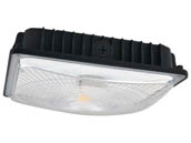 NaturaLED 9422 FX10SCM59/840/BK Dimmable 250 Watt Equivalent, 59 Watt 4000K LED Canopy Fixture, Title 24 Compliant
