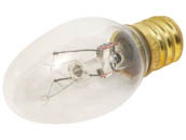 Satco Products, Inc. S3691 7C7 NITELITE CLR Satco 7W 120V C7 Clear Night Light E12 Base