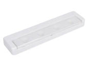 Brilliant Evolution BRRC116 LED White Ultra-Thin Undercabinet Wireless Battery Operated Light Fixture