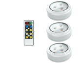Brilliant Evolution BRRC153IR 3-Pack LED Puck Lights, Wireless/Battery Operated With Remote