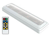 Brilliant Evolution BRRC124IR LED White Undercabinet Battery Operated Light Fixture with Remote