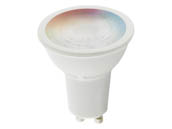 Satco Products, Inc. S11271 5.5MR16/GU10/RGB/TW/SF Satco Starfish Smart Wi-Fi 5.5 Watt LED Color Changing and Tunable White MR-16 Lamp, GU10 Base