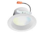 "Satco Products, Inc. S11259 8.7W/LED/RDL/4/TW/T20/JA8/SF Satco Starfish WiFi 8.7 Watt 4"" LED Recessed Downlight, Tunable White. JA8 Compliant"