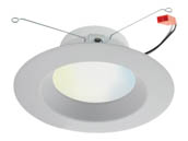 "Satco Products, Inc. S11260 10W/LED/RDL/5-6/TW/T20/JA8/SF Satco Starfish Smart WiFi 10 Watt 5-6"" LED Recessed Downlight, Tunable White, JA8 Compliant"