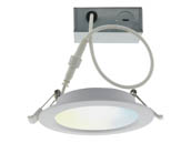"Satco Products, Inc. S11261 10WLED/DW/4""/TW/RD/SF Satco Starfish WiFi 4"" LED Direct Wire Round Recessed Downlight, Tunable White, Wet Location Rated"