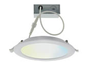 "Satco Products, Inc. S11262 12WLED/DW/6""/TW/RD/SF Satco Starfish 6"" LED Direct Wire Round Recessed Downlight, Tunable White, Wet Location Rated"