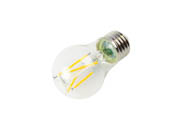 Satco Products, Inc. S12401 5A15/CL/LED/E26/930/120V Satco Dimmable 5W 3000K 90 CRI A15 Filament LED Bulb, Enclosed Fixture and Wet Rated, JA8 Compliant