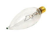 Bulbrite 403060 60CFC/32/3 (130V) 60W 130V Clear Bent Tip Decorative Bulb, E12 Base