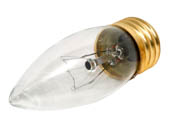 Bulbrite 405040 40ETC (130V) 40W 130V Clear Blunt Tip Decorative Bulb, E26 Base