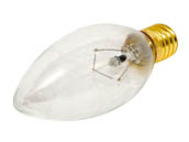 Bulbrite 400425 25CTC/E14 (130V) 25W 130V Clear Blunt Tip Decorative Bulb, European E14 Base