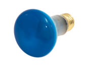 Bulbrite 223050 50R20B  (Blue) 50W 120V R20 Blue Reflector Flood E26 Base