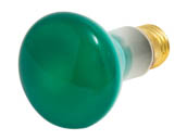 Bulbrite 224050 50R20G  (Green) 50W 120V R20 Green Reflector Flood E26 Base